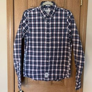 Mens Abercrombie And Fitch Muscle Blue Plaid